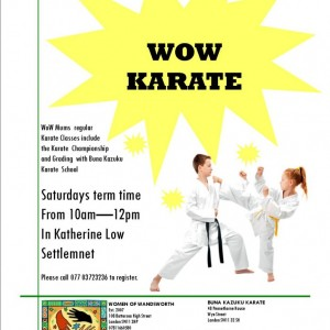 WoW Karate classes 2015 poster