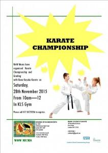 WoW Karate Championship Nov. 2015 poster