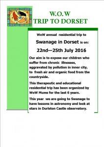 WoW Devon Trip poster 2016