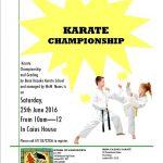 WoW Karate Championship ~June 2016 poster2